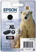 Epson Druckerpatrone Tinte 26 XL T2621 BK black, schwarz