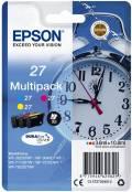 3 Epson Druckerpatronen Tinte 27 T2705 C / M / Y Multipack
