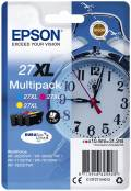 3 Epson Druckerpatronen Tinte 27 XL T2715 C / M / Y Multipack