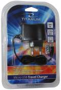 Titanum USB Ladegerät Charger Travel Universal Micro USB Kabel schwarz TZ101