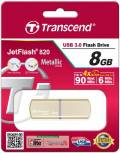 Transcend USB Stick 8GB Speicherstick JetFlash 820 gold USB 3.0