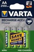 4 Varta 56706 Akku AA 2100mAh Ready To Use Nickel-Metall-Hydrid im 4er Blister