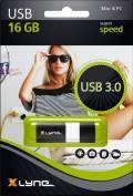 Xlyne USB Stick 16GB Speicherstick WAVE schwarz USB 3.0