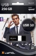 Xlyne USB Stick 256GB Speicherstick WAVE schwarz USB 3.0