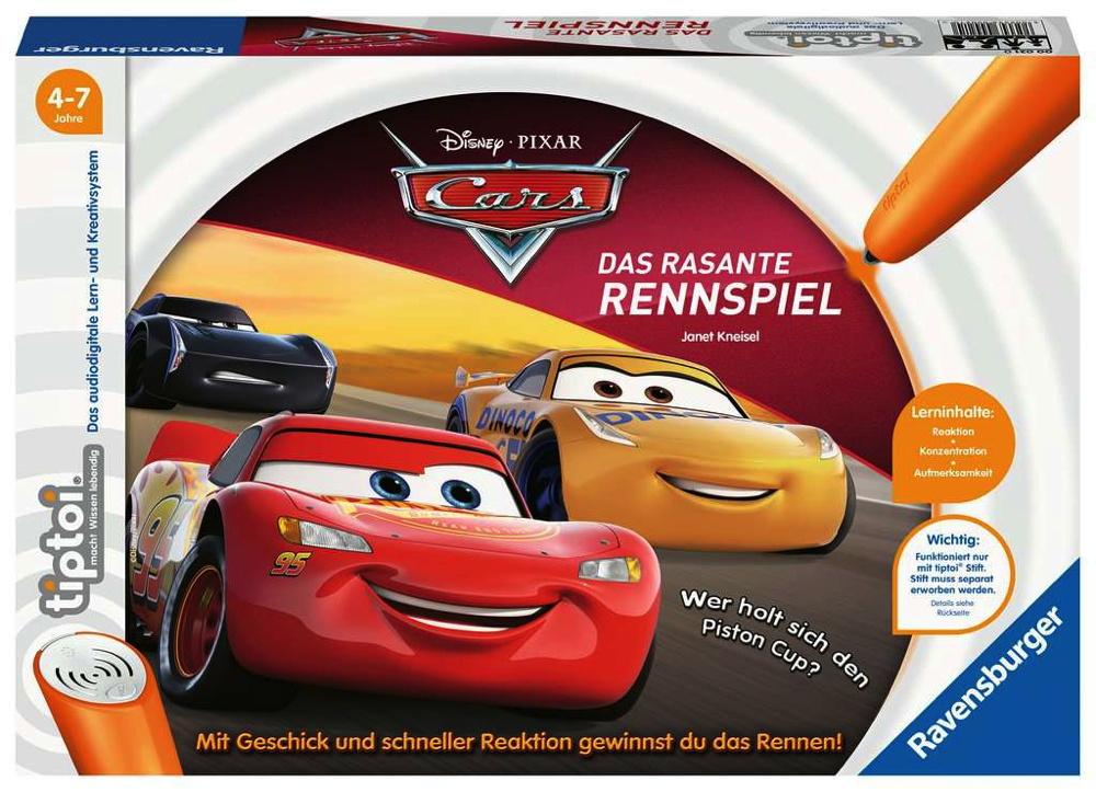 Ravensburger tiptoi Lernspiel Cars Cars 3Das rasante Rennspiel 00021