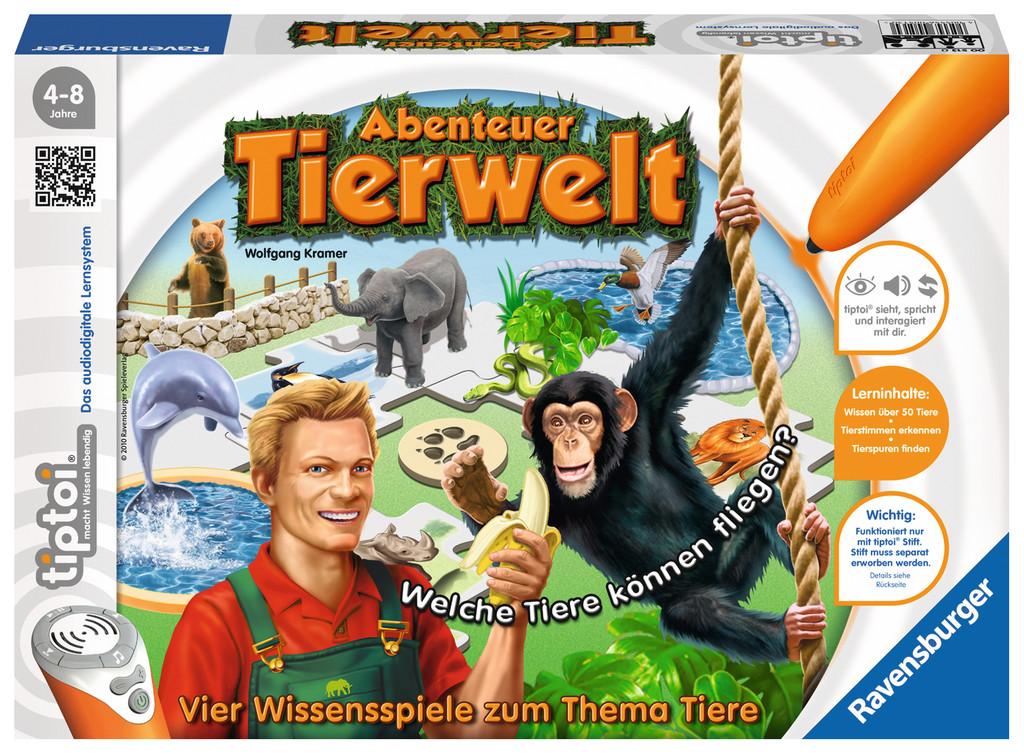 Ravensburger tiptoi Lernspiel Abenteuer Tierwelt 00513