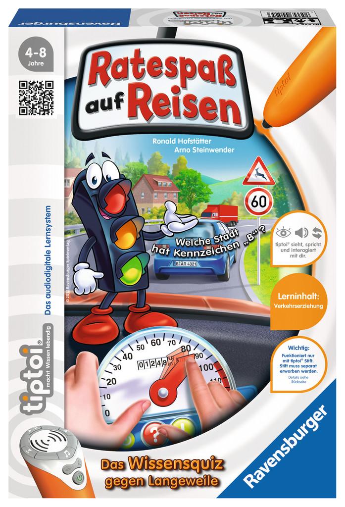 Ravensburger tiptoi Lernspiel Ratespaß auf Reisen 00525