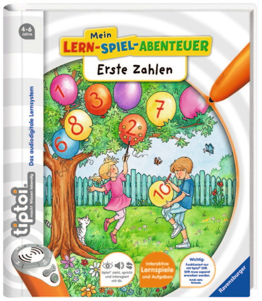 Ravensburger tiptoi Buch Mein-Lern-Spiel-Abenteuer Erste Zahlen 41801
