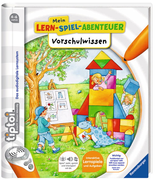 Ravensburger tiptoi Buch Mein-Lern-Spiel-Abenteuer Vorschulwissen 41805