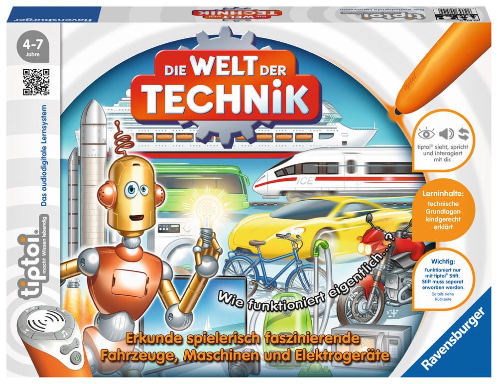 Ravensburger tiptoi Lernspiel Die Welt der Technik 00837