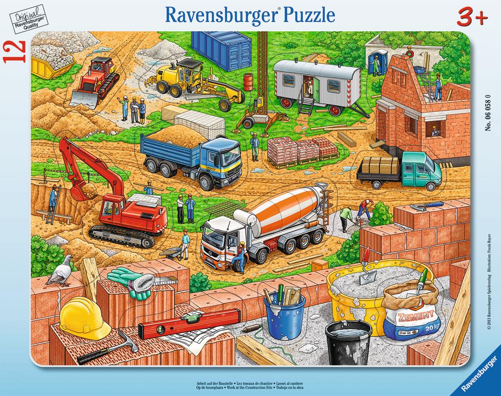 12 Teile Ravensburger Kinder Rahmen Puzzle Arbeit auf der Baustelle ...