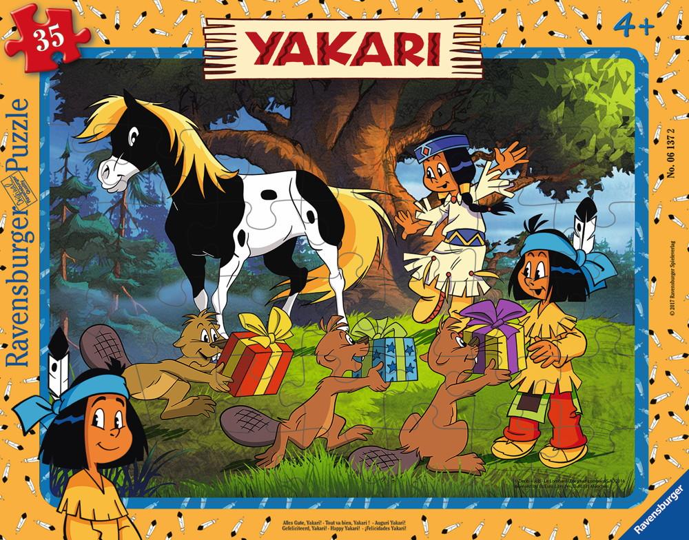 35 Teile Ravensburger Kinder Rahmen Puzzle Yakari Alles Gute, Yakari ...