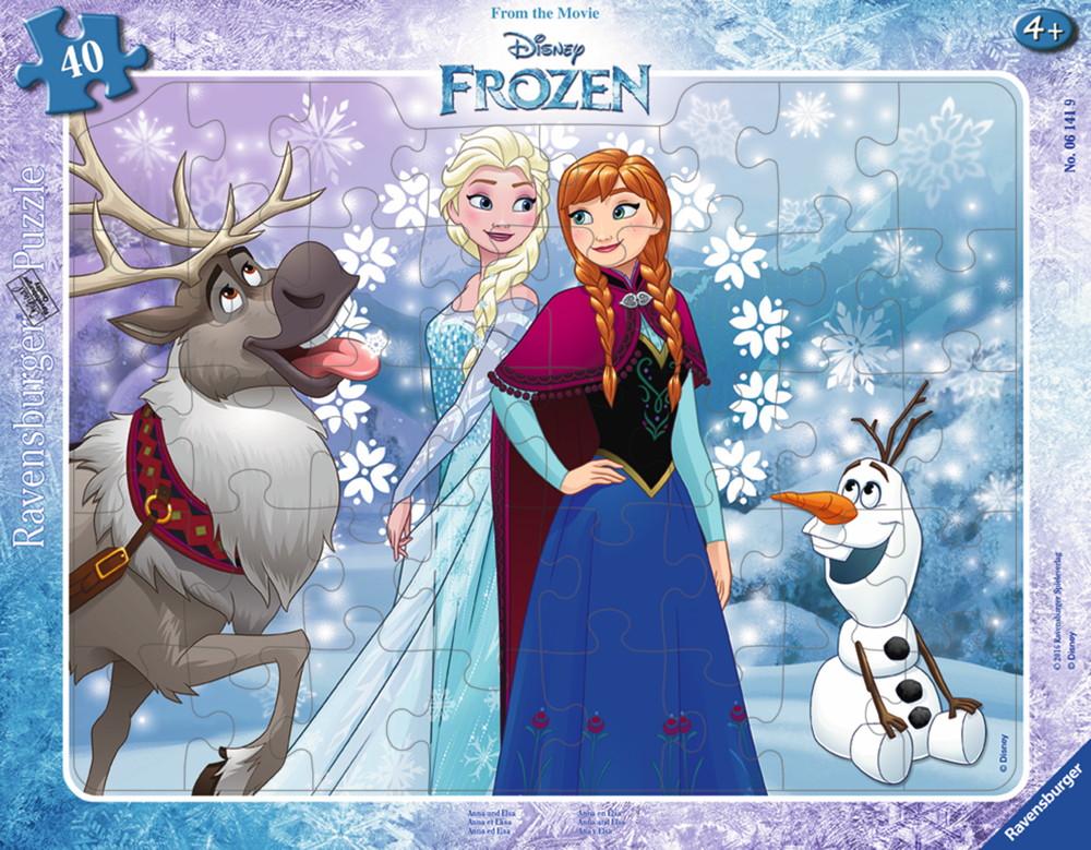 40 Teile Ravensburger Kinder Rahmen Puzzle Disney Frozen Anna und ...