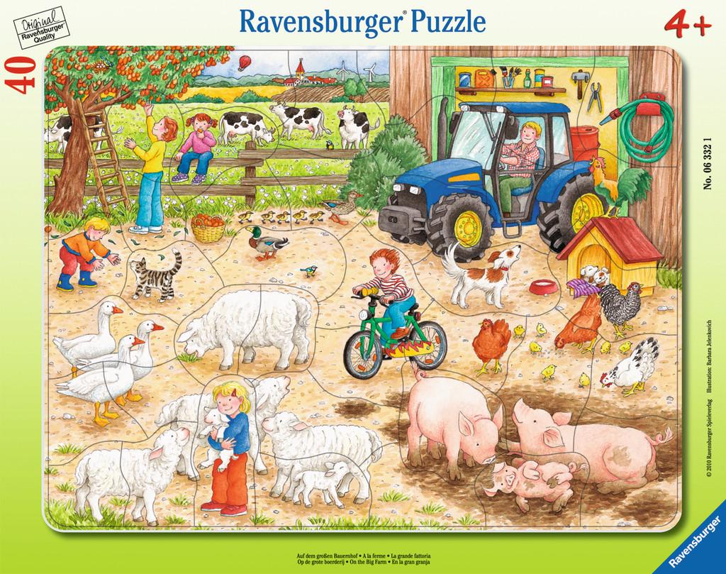 40 Teile Ravensburger Kinder Rahmen Puzzle Auf dem großen Bauernhof ...