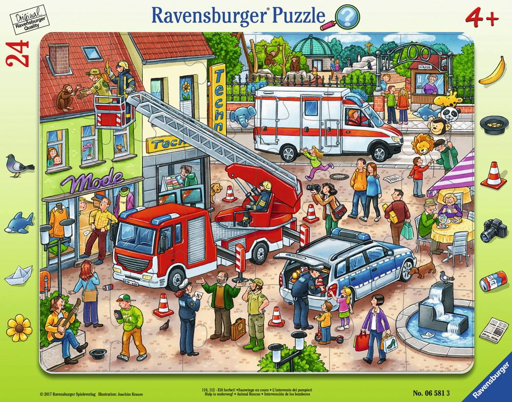 24 Teile Ravensburger Kinder Rahmen Puzzle 110, 112-Eilt herbei! 06581