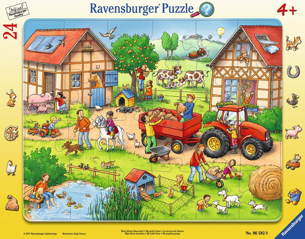 24 Teile Ravensburger Kinder Rahmen Puzzle Mein kleiner Bauernhof 06582