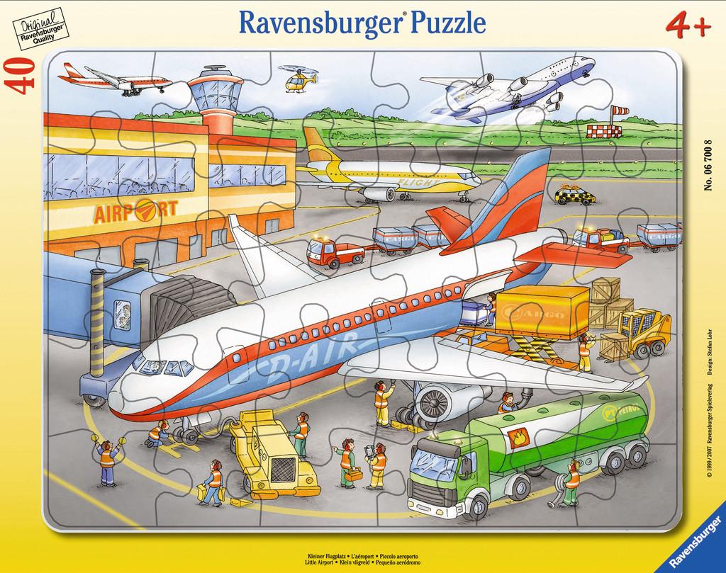 40 Teile Ravensburger Kinder Rahmen Puzzle Kleiner Flugplatz 06700