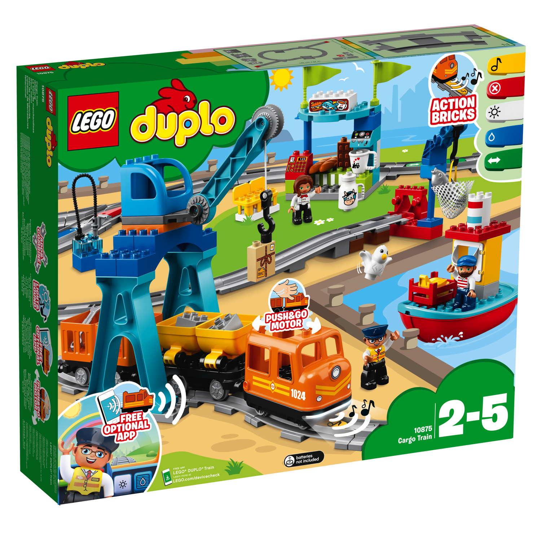 LEGO® DUPLO® Eisenbahn Güterzug 105 Teile 10875