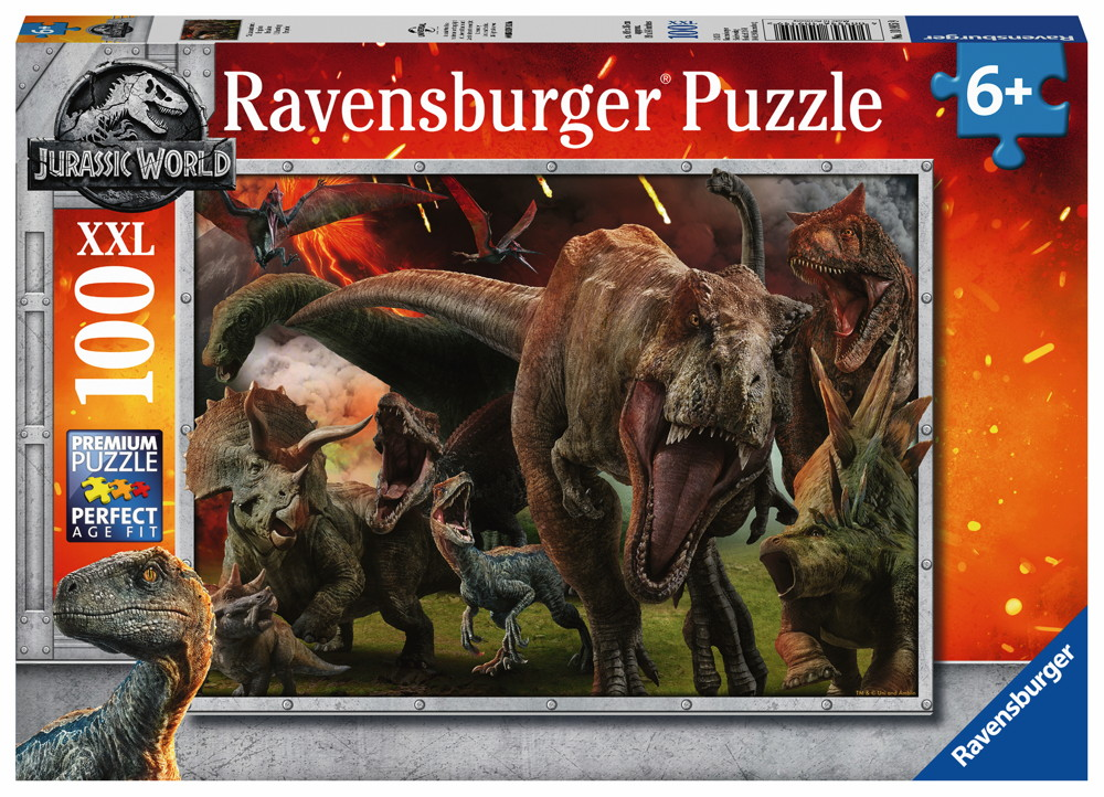 100 Teile Ravensburger Kinder Puzzle XXL Jurassic World Jurassic World 2 10915