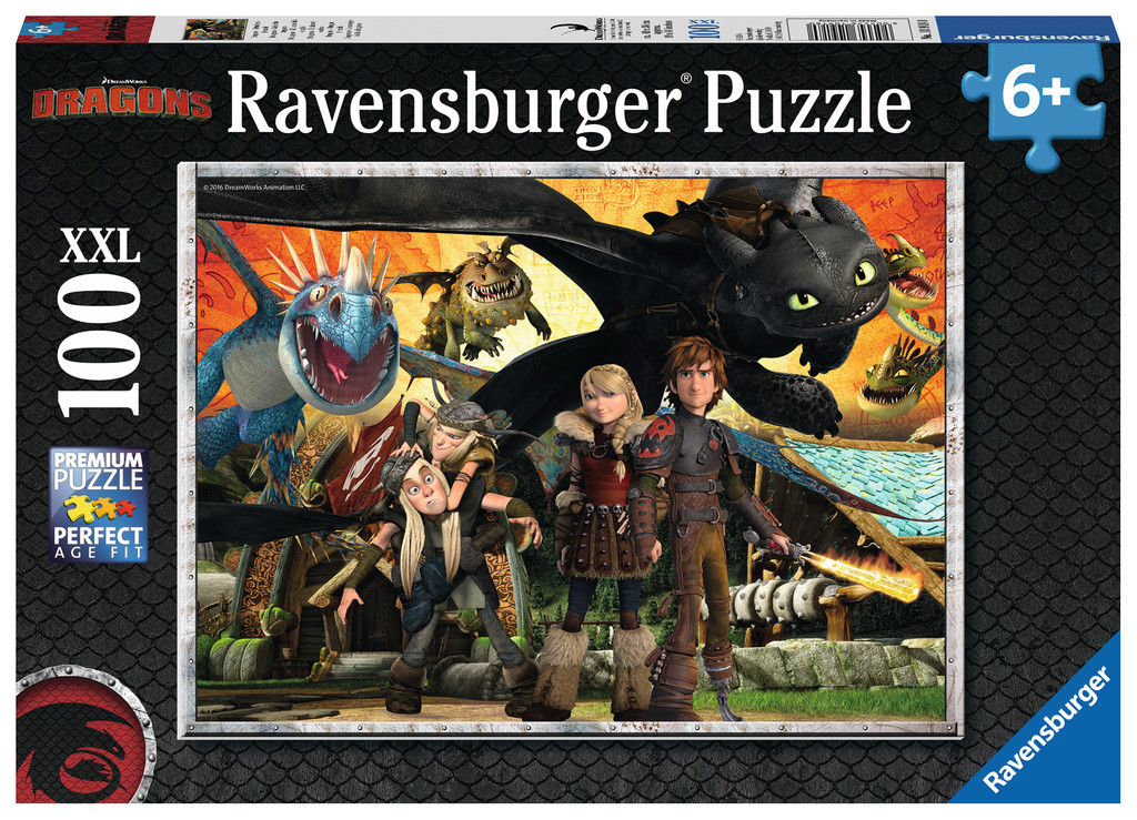 100 Teile Ravensburger Kinder Puzzle XXL Dragons Drachenfreunde 10918