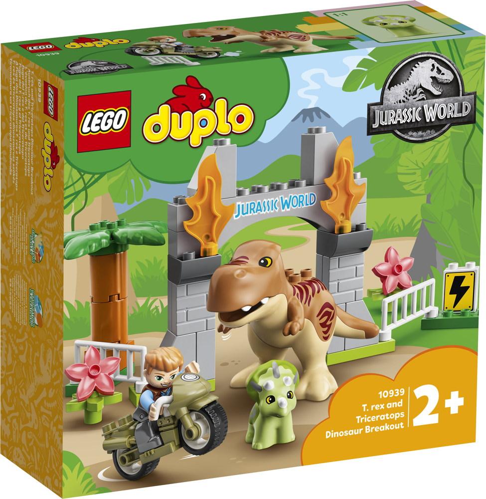 LEGO® DUPLO® Ausbruch des T. rex und Triceratops 36 Teile 10939