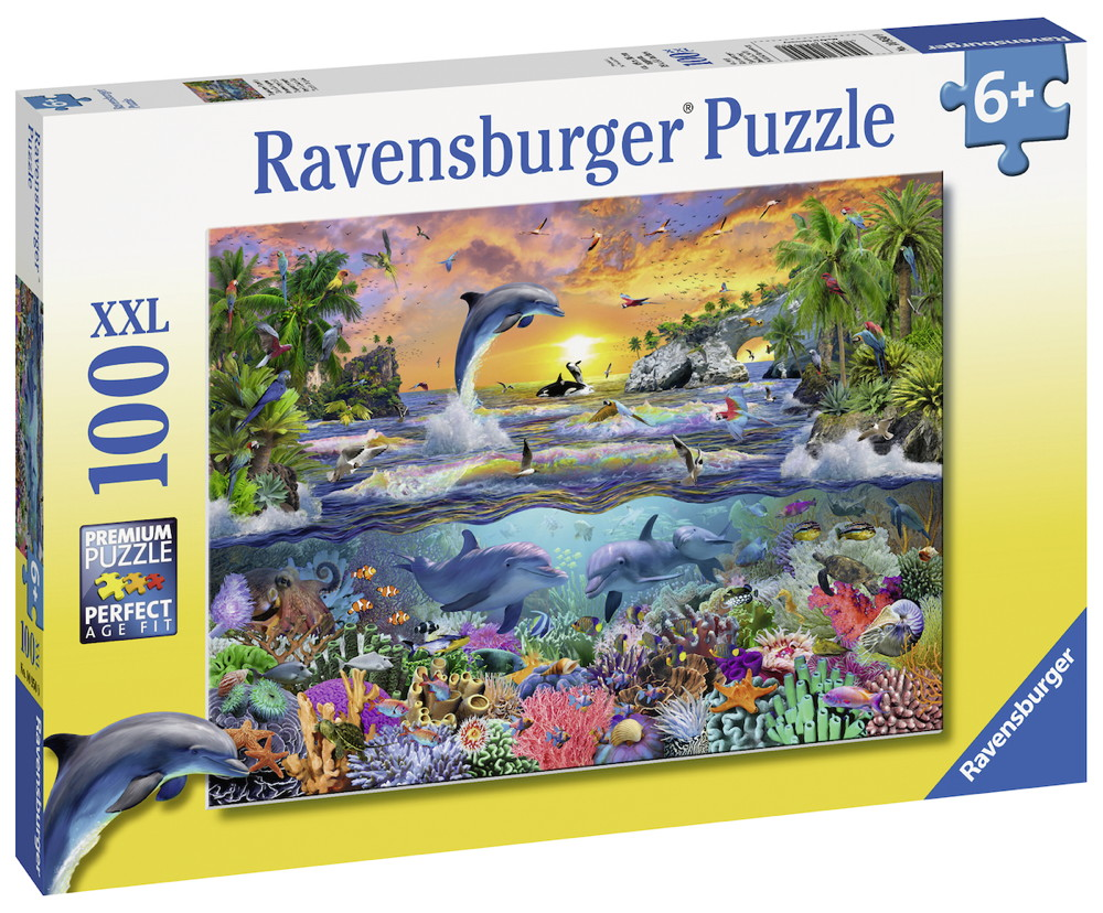 100 Teile Ravensburger Kinder Puzzle XXL Tropisches Paradies 10950