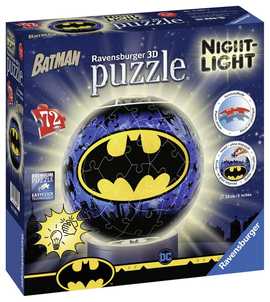 72 Teile Ravensburger 3D Puzzle Ball Nachtlicht Batman 11080