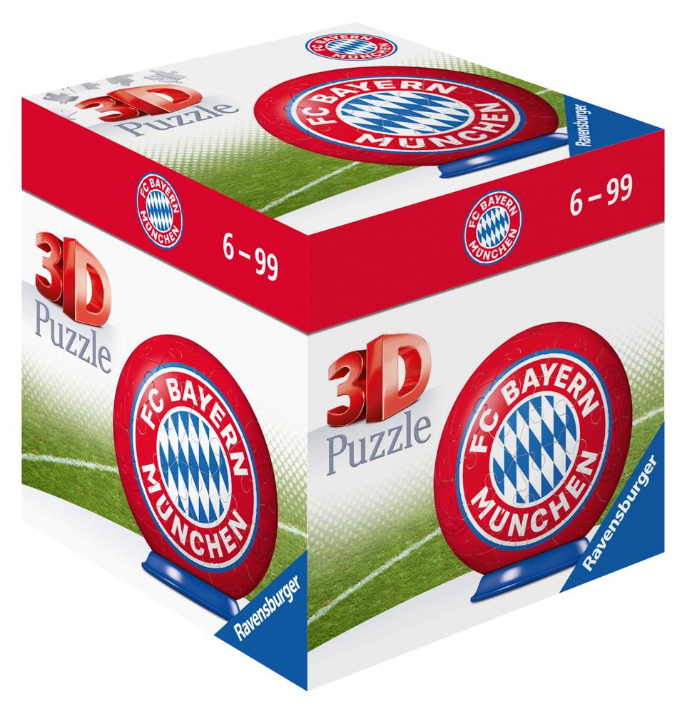 54 Teile Ravensburger 3D Puzzle Ball FC Bayern München 11857