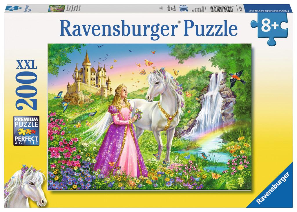 200 Teile Ravensburger Kinder Puzzle XXL Prinzessin mit Pferd 12613