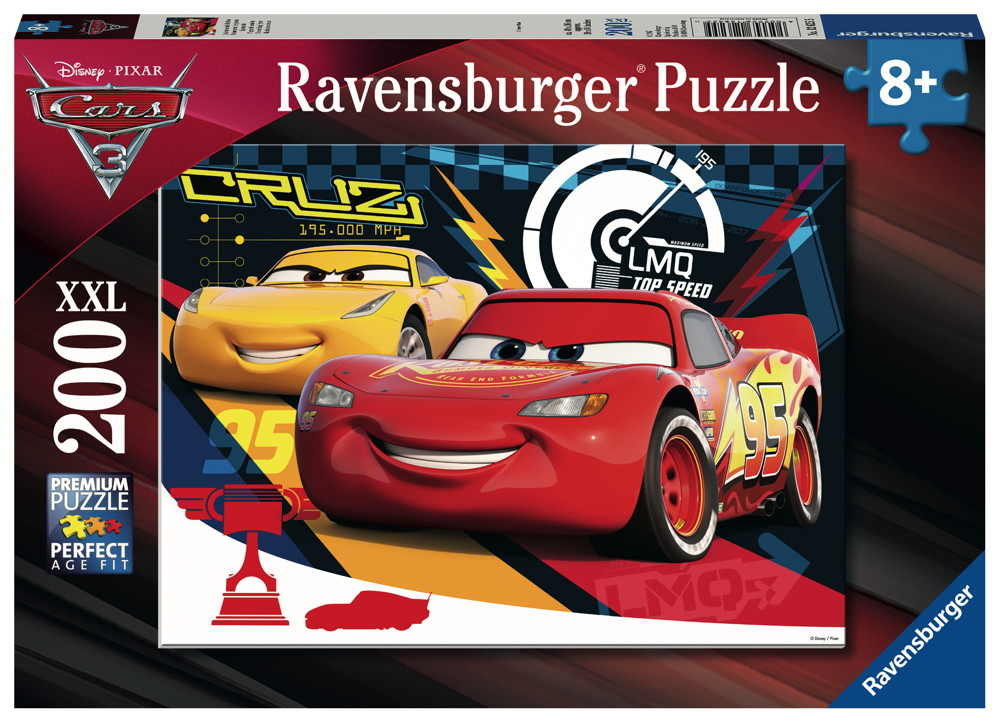 200 Teile Ravensburger Kinder Puzzle XXL Disney Pixar Cars 3 Quietschende Reifen 12625