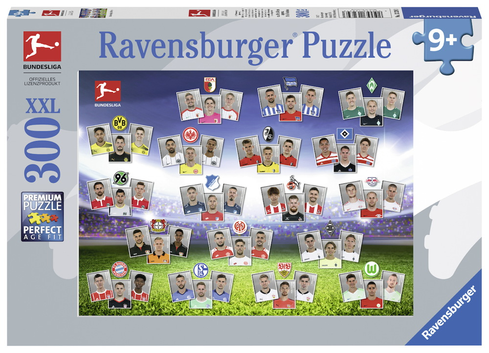 300 Teile Ravensburger Kinder Puzzle XXL Bundesliga 2017 / 2018 13239