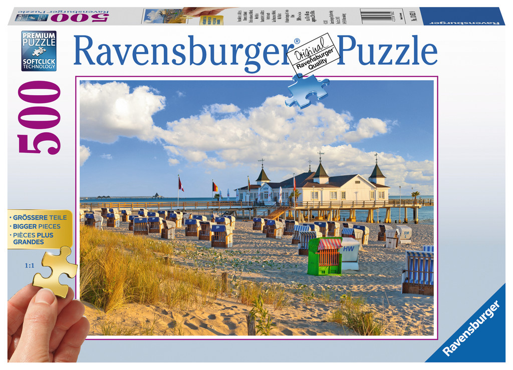500 Teile Ravensburger Puzzle Gold Edition Strandkörbe in Ahlbeck 13652