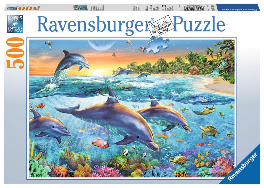 500 Teile Ravensburger Puzzle Bucht der Delfine 14210