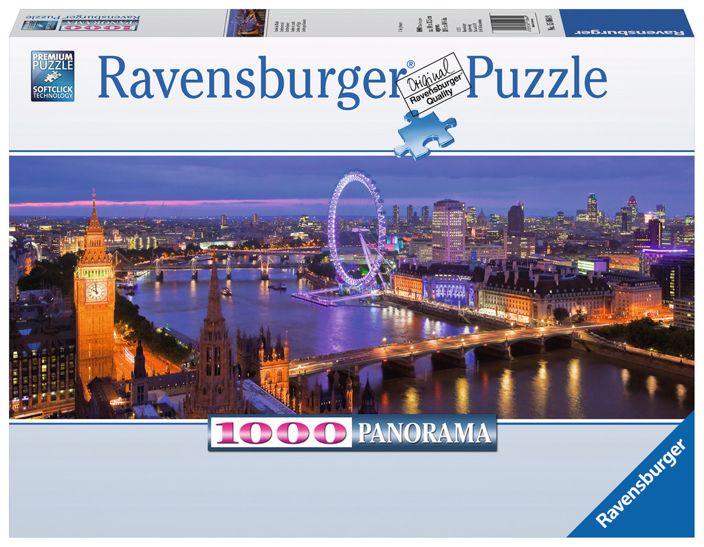 1000 Teile Ravensburger Puzzle Panorama London bei Nacht 15064