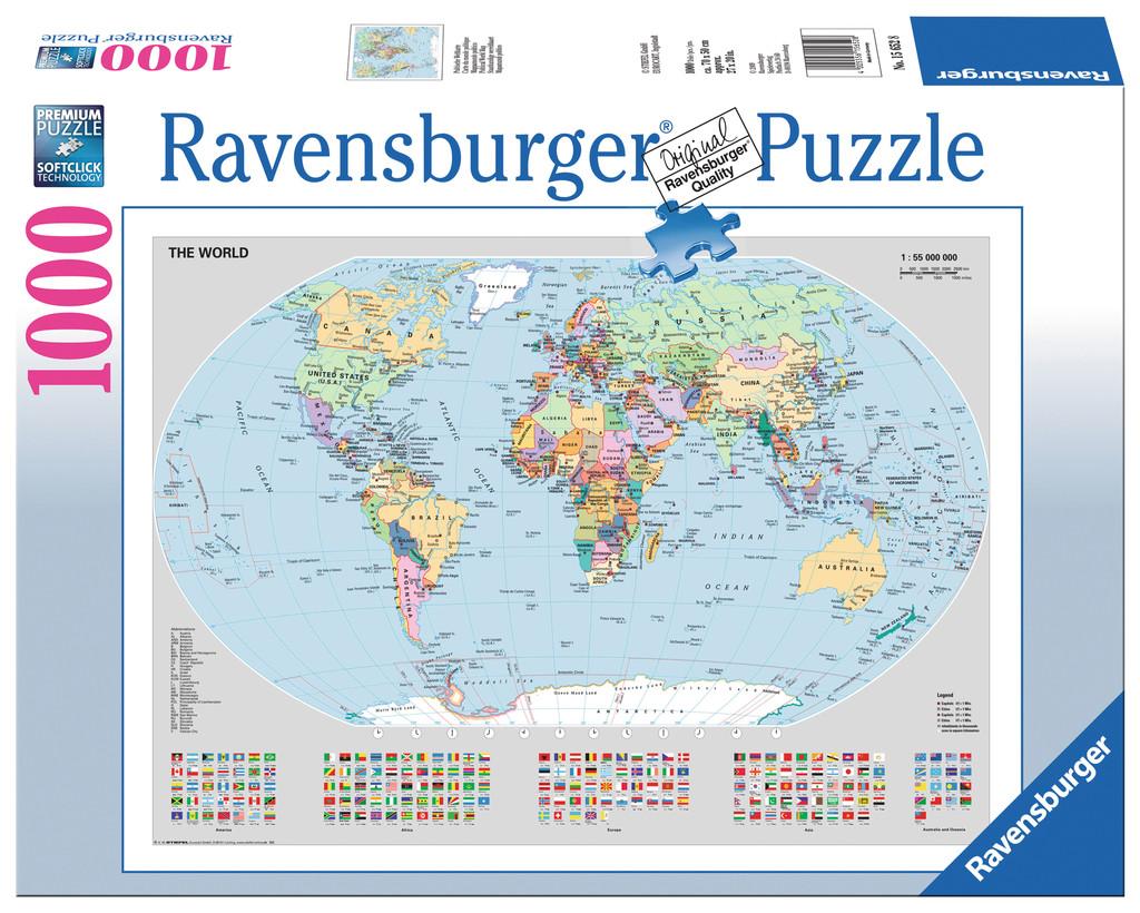 puzzle weltkarte 1000 Teile Ravensburger Puzzle Politische Weltkarte 15652 puzzle weltkarte