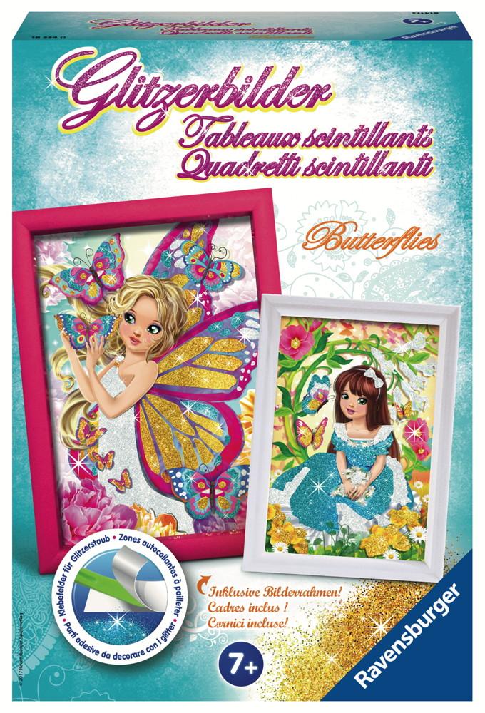 Ravensburger Creation Basteln Glitzerbilder Butterflies 18334