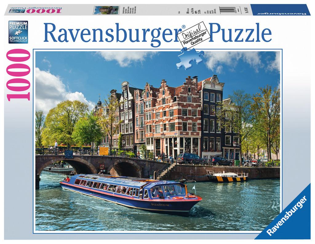 1000 Teile Ravensburger Puzzle Grachtenfahrt in Amsterdam 19138