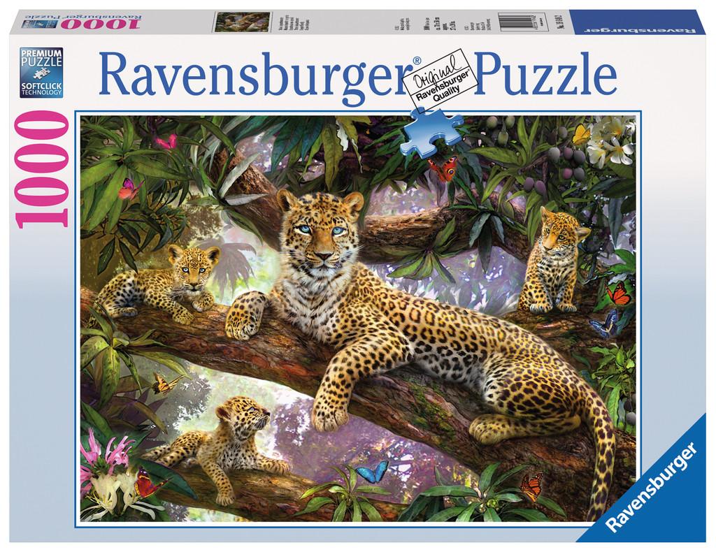 1000 Teile Ravensburger Puzzle Stolze Leopardenmutter 19148