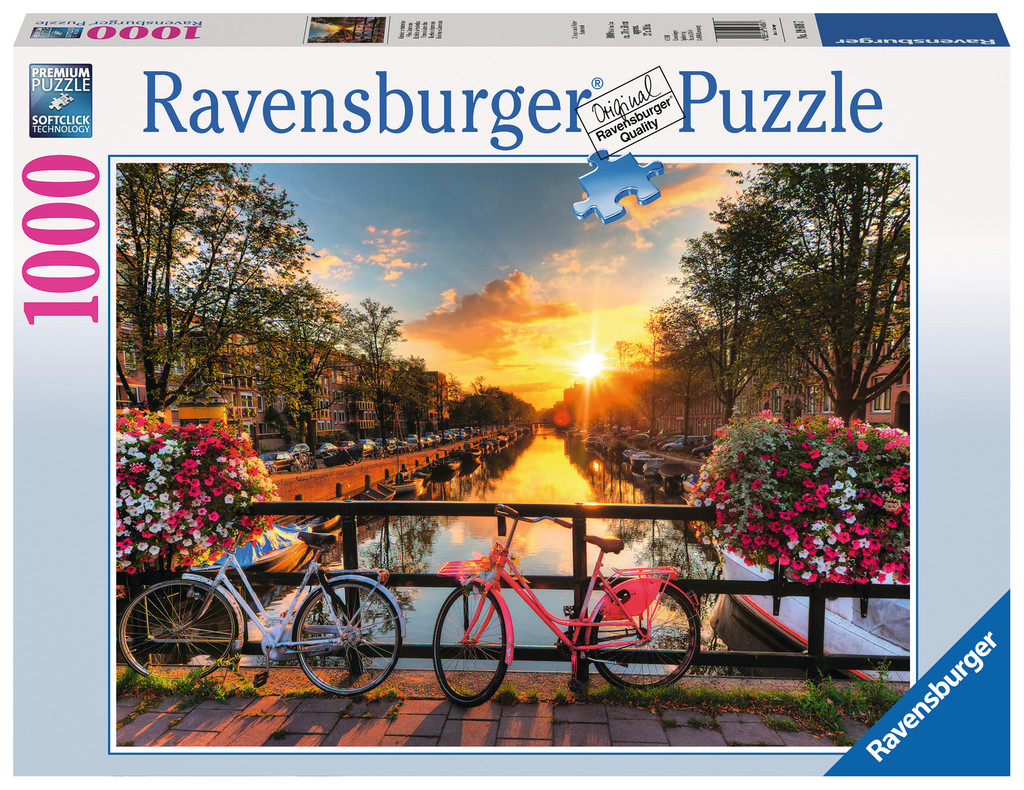 1000 Teile Ravensburger Puzzle Fahrräder in Amsterdam 19606
