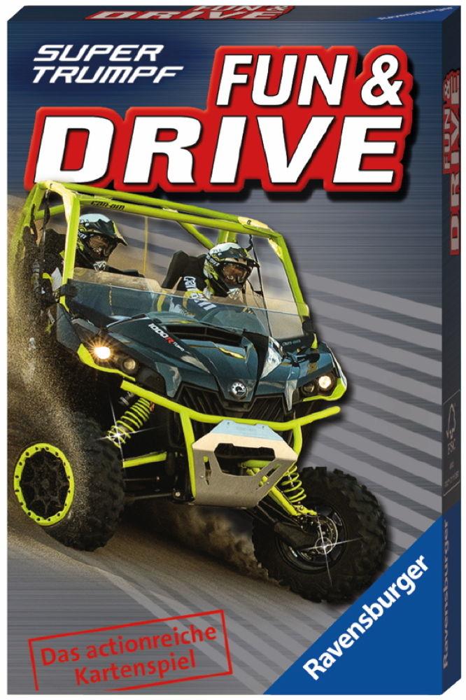 32 Blatt Ravensburger Kinder Kartenspiel Supertrumpf Fun & Drive 20342