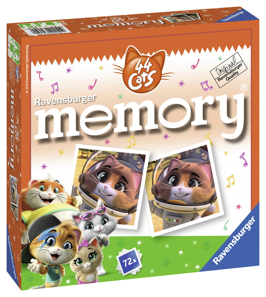 72 Karten Ravensburger Kinderspiel Legekartenspiel 44 Cats memory 20451