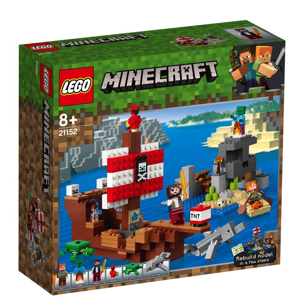 LEGO® Minecraft™ Das Piratenschiff-Abenteuer 386 Teile 21152