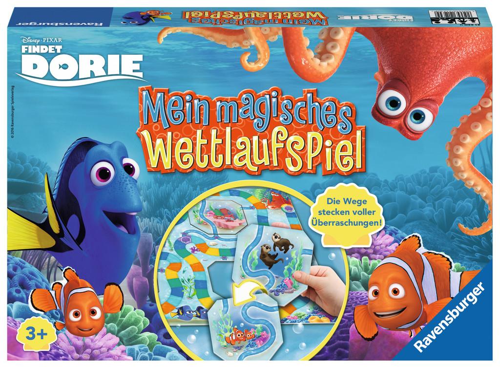 Ravensburger Kinderspiel Wettlaufspiel Disney Pixar Findet Dory Mein magisches Wettlaufspiel 21230