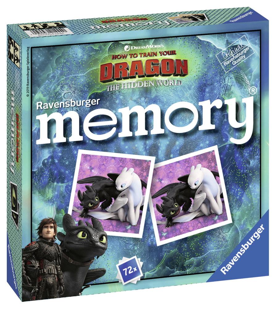72 Karten Ravensburger Kinderspiel Legekartenspiel Dragons 3 memory 21444