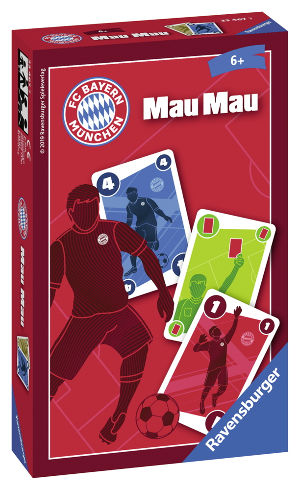 Ravensburger Mitbringspiel Kartenspiel FC Bayern München Mau Mau 23467