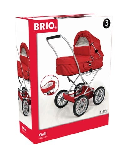 Brio Spielzeug Rollenspiel Puppenwagen Gull rot 24891107