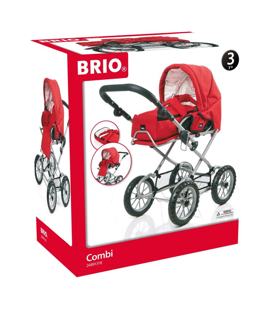 Brio Spielzeug Rollenspiel Puppenwagen Combi, rot 24891318