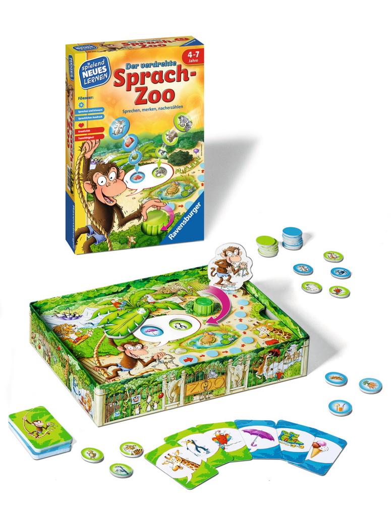 Spiele Ravensburger Spielend Neues Lernen Sprach-Lernspiel verdrehte Sprach-Zoo 24945