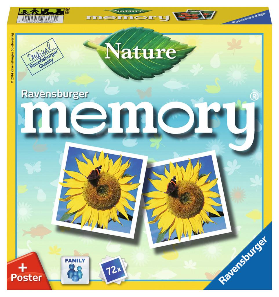 72 Karten Ravensburger Familienspiel Legekartenspiel Nature memory 26633