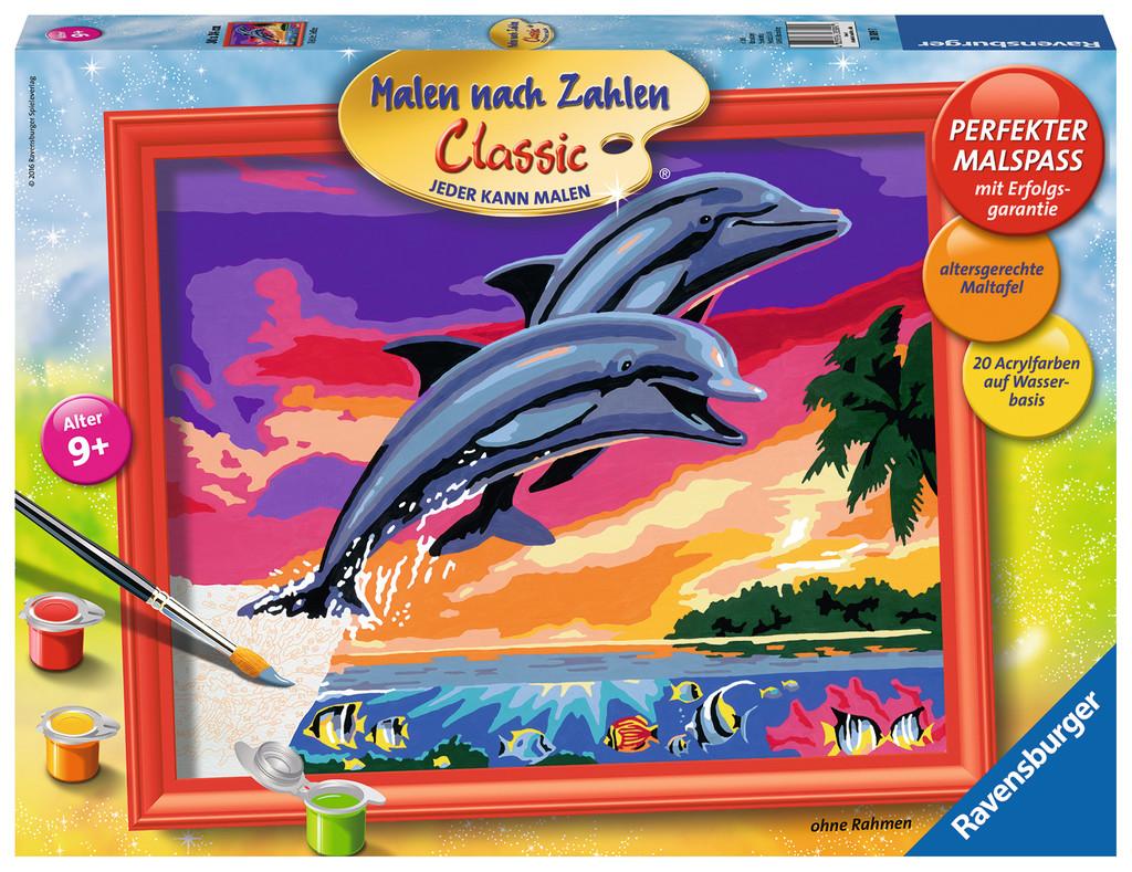 Ravensburger Malen Nach Zahlen Classic Serie C Welt Der Delfine 28389